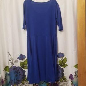 LuLaRoe Dresses - LulaRoe royal blue dress sz 3XL